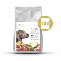 pets Premium - Trockenfutter - Soft Vorteilspaket Ente mit Kartoffeln, Erbsen und Brennnessel 10 x 1,5kg