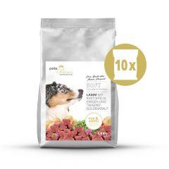 pets Premium - Trockenfutter - Soft Vorteilspaket Lamm mit Kartoffeln, Erbsen und Tausendgüldenkraut 10 x 1,5kg