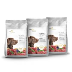 pets Premium - Trockenfutter - Soft Vorteilspaket Rind mit Kartoffeln, Erbsen und Enzianwurzel 3 x 5kg