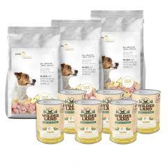 Pets Premium - Trockenfutter - Premium Paket Soft Huhn mit Kartoffeln, Äpfeln und Kamille 3 x 5kg + Nassfutter 6 x 400g