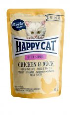 Happy Cat - Nassfutter - All Meat Junior Huhn & Ente Pouches