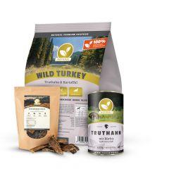 Natural - Trockenfutter - Premium Paket Trockenfutter 3kg + Nassfutter 6 x 400g + Snack 300g