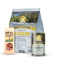 Natural - Trockenfutter - Premium Paket Trockenfutter 1kg + Nassfutter 6 x 400g + Knusperkugeln 150g