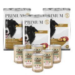 Primum - Trockenfutter - Premium Paket Soft Ente mit Kartoffel 3 x 5kg + Nassfutter 6 x 400g