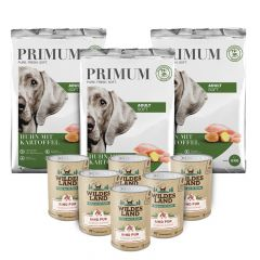 Primum - Trockenfutter - Premium Paket Soft Huhn mit Kartoffel 3 x 5kg + Nassfutter 6 x 400g