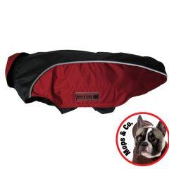 Wolters - Hundebekleidung - Regenjacke Easy Rain für Mops & Co schwarz/rot
