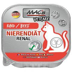 Mac's - Nassfutter - Katze Vetcare Nierendiät Rind