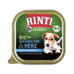 Rinti - Nassfutter - Feinest Bio Geflügelherzen (getreidefrei)