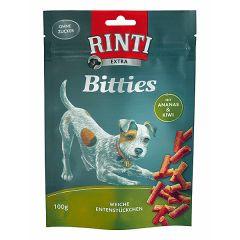 Rinti - Kausnack - Extra Bitties Ente mit Ananas und Kiwi 100g (getreidefrei)