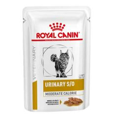 Royal Canin Veterinary Diet - Nassfutter - Urinary S/O Katze Moderate Calorie Häppchen in Soße