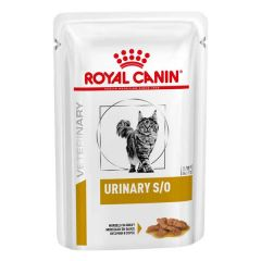 Royal Canin Veterinary Diet - Nassfutter - Urinary S/O Katze Häppchen in Soße