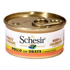 Schesir - Nassfutter - Brühe Hühnerfilet mit Goldbrasse