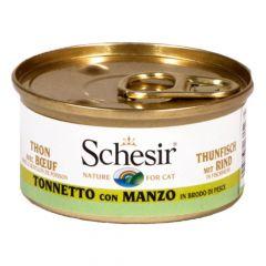 Schesir - Nassfutter - Brühe Thunfisch mit Rindfleisch