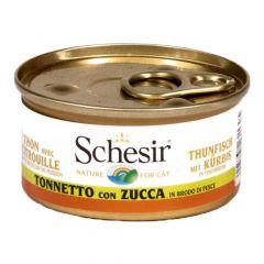 Schesir - Nassfutter - Brühe Thunfisch mit Kürbis