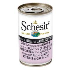 Schesir - Nassfutter - Jelly Hühnerfilet mit Garnelen