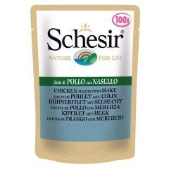 Schesir - Nassfutter - Jelly Hühnerfilet mit Seehecht Pouch