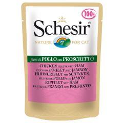 Schesir - Nassfutter - Jelly Hühnerfilet mit Schinken Pouch