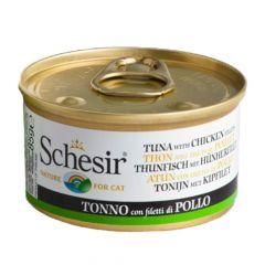 Schesir - Nassfutter - Jelly Thunfisch mit Hühnerfilet