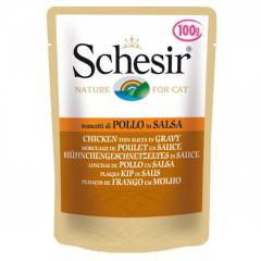 Schesir - Nassfutter - Hühnchengeschnetzeltes in Soße Pouch