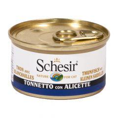 Schesir - Nassfutter - Jelly Thunfisch mit kleinen Sardellen