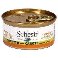Schesir - Nassfutter - Brühe Thunfisch mit Karotten