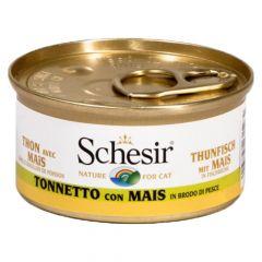 Schesir - Nassfutter - Brühe Thunfisch mit Mais