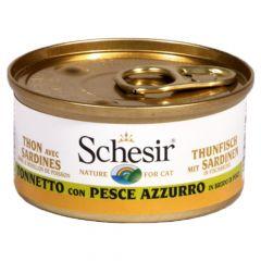 Schesir - Nassfutter - Brühe Thunfisch mit Sardinen