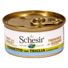 Schesir - Nassfutter - Brühe Thunfisch mit Seebarbe