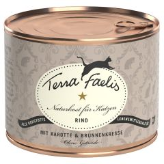 Terra Faelis - Nassfutter - Rind mit Karotte und Brunnenkresse (getreidefrei)