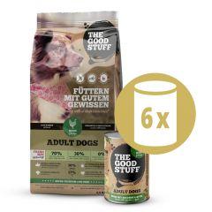 The Goodstuff - Vorteilspaket Huhn Trockenfutter 2,5kg + Nassfutter 6 x 800g