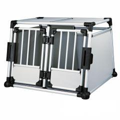 Trixie - Hundezubehör - Transportbox Aluminium Doppelt