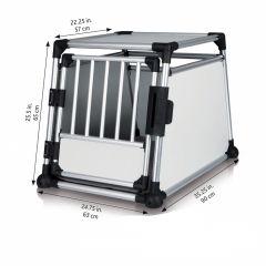 Trixie - Hundezubehör - Transportbox Aluminium S 48 x 57 x 64cm