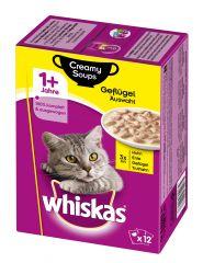 Whiskas - Nassfutter - Adult 1+ Creamy Soups Geflügelauswahl
