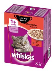 Whiskas - Nassfutter - Adult 1+ Creamy Soups Klassische Auswahl