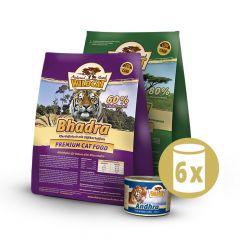 Wildcat - Katzenfutter - Premium Paket Adult Trockenfutter 2 x 3kg +  Nassfutter 6 x 200g