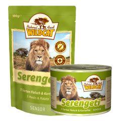 Wildcat - Nassfutter - Serengeti Senior mit 5 Sorten Fleisch und Kartoffel (getreidefrei)