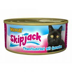 Wildcat - Nassfutter - Skipjack Thunfischfilet mit Garnelen (getreidefrei)