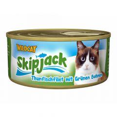 Wildcat - Nassfutter - Skipjack Thunfischfilet mit Grünen Bohnen (getreidefrei)