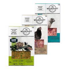 Wildcraft - Hundefutter - BARF Kombipaket Rohfleischmix Huhn 5 x 500g und Lamm 4 x 500g + Frische Vitamine Gemüse mit Obst 2 x 250g