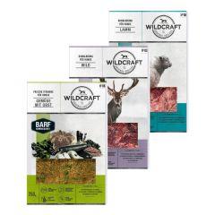 Wildcraft - Hundefutter - BARF Kombipaket Rohfleischmix Lamm 5 x 500g und Wild 4 x 500g + Frische Vitamine Gemüse mit Obst 2 x 250g