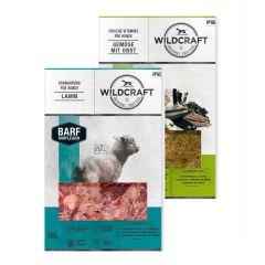 Wildcraft - Hundefutter - BARF Kombipaket Rohfleischmix Lamm 9 x 500g + Frische Vitamine Gemüse mit Obst 2 x 250g