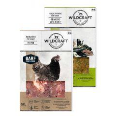 Wildcraft - Hundefutter - BARF Kombipaket Rohfleischmix Huhn 9 x 500g + Frische Vitamine Gemüse mit Obst 2 x 250g