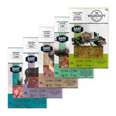 Wildcraft - Hundefutter - BARF Kombipaket Rohfleischmix 6 x 500g und Komplettmenü 3 x 500g + Frische Vitamine Gemüse mit Obst 2 x 250g
