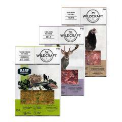 Wildcraft - Hundefutter - BARF Kombipaket Rohfleischmix Wild 5 x 500g und Huhn 4 x 500g + Frische Vitamine Gemüse mit Obst 2 x 250g