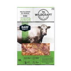 Wildcraft - Hundefutter - BARF Paket Rohfleisch Komplettmenü Rind Junior 10 x 500g