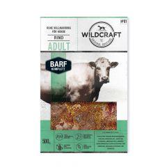 Wildcraft - Hundefutter - BARF Paket Rohfleisch Komplettmenü Rind Adult 10 x 500g