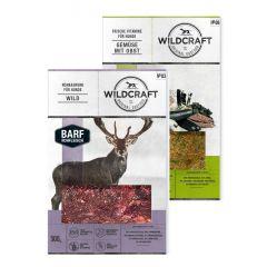Wildcraft - Hundefutter - BARF Kombipaket Rohfleischmix Wild 9 x 500g + Frische Vitamine Gemüse mit Obst 2 x 250g