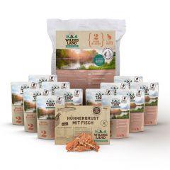 Wildes Land - Katzenfutter - Premiumpaket mit Trockenfutter 1,2kg + 24 x 100g Nassfutter + Snack 70g