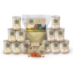 Wildes Land - Katzenfutter - Premiumpaket mit Trockenfutter 4kg + 12 x 400g Nassfutter + Snack 70g