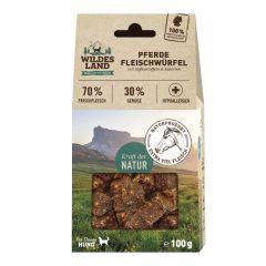Wildes Land - Hundesnack - Fleischwürfel Pferd (getreidefrei)